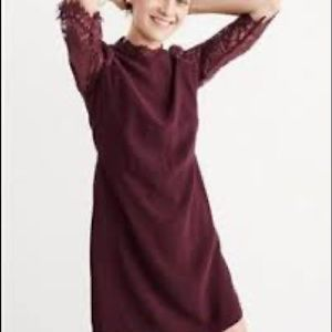 Abercrombie and Fitch lace mock neck dress